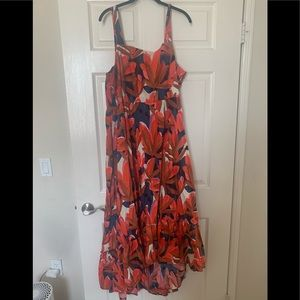 Who What Wear floral high low dress size xxl